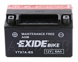 Аккумулятор мото EXIDE AGM-DRY TECHNOLOGY ETX7L-BS / YTX7A-BS